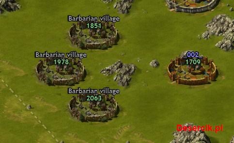wioski barbarzyńskie na mapie gry