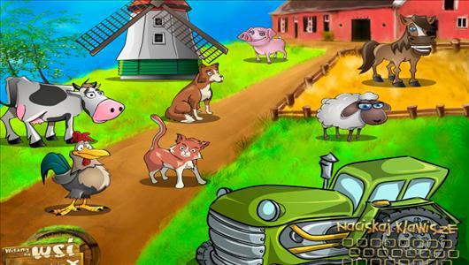 gra co mówią zwierzątka wieś
