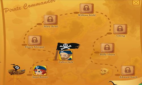 Pirate Commander mapa