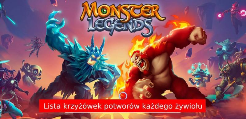 Krzyżówki potworów w Monster Legends