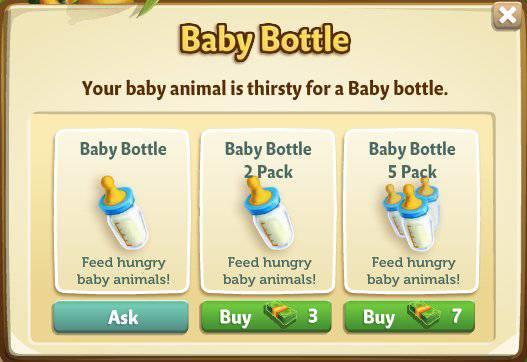 Butelki z Mlekiem (Baby Bottles) w FarmVille 2
