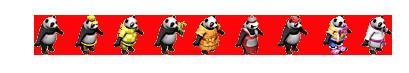 pandy kolorowe