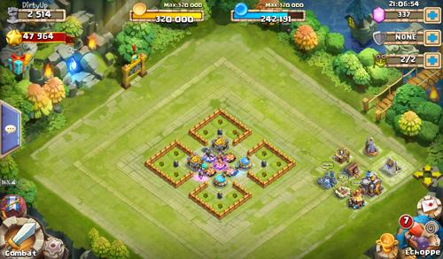 Ustawienia bazy (Bade Design) w Castle Clash