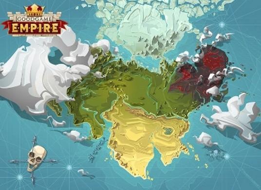 Mapa królestw w Goodgame Empire