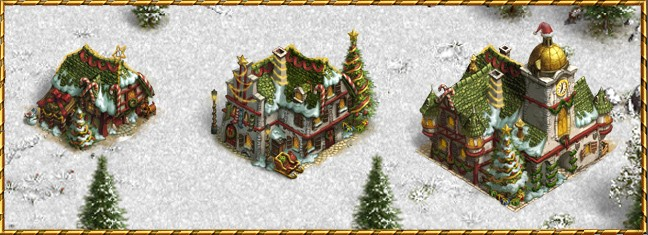 budynki świąteczne na boże narodzenie