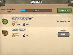 Zakładka Quests