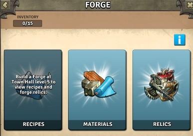 Zakładka Forge