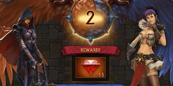 15 rubinów za każdy nowy poziom