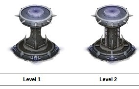Wygląd wież Tower of Death na kolejnych poziomach