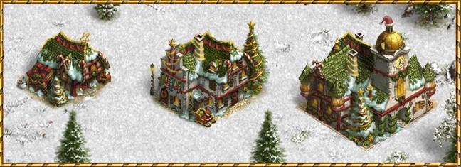 budynki w evencie świątecznym