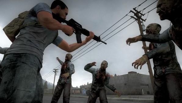 Użyj broni do walki z grupą zombie