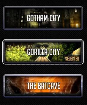 Wybierz jedno z odpowiadających ci miast z uniwersum batmana