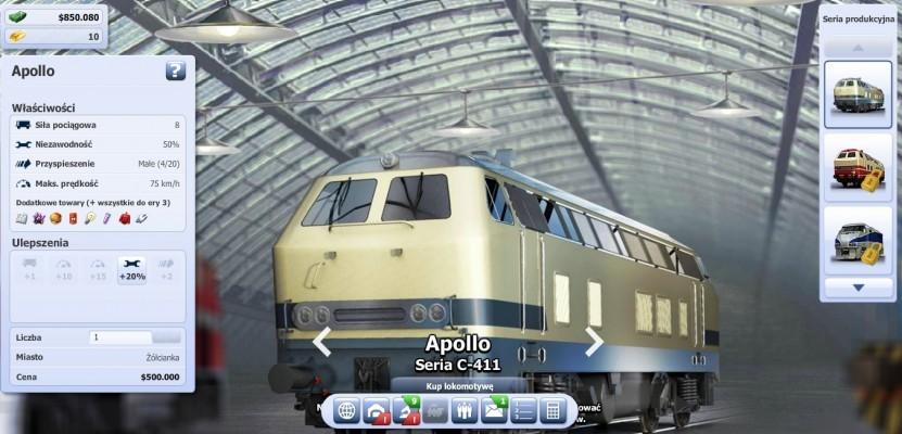 Kupowanie nowych lokomotyw