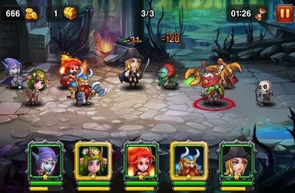 Ulepszenia bohaterów w Heroes Charge