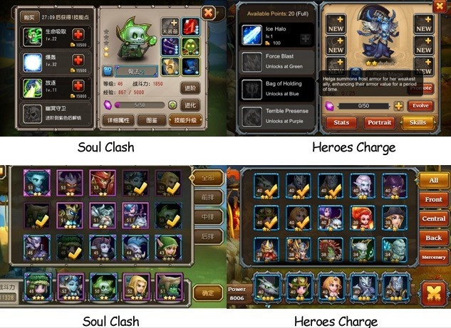 Soul Clash vs Heroes Charge