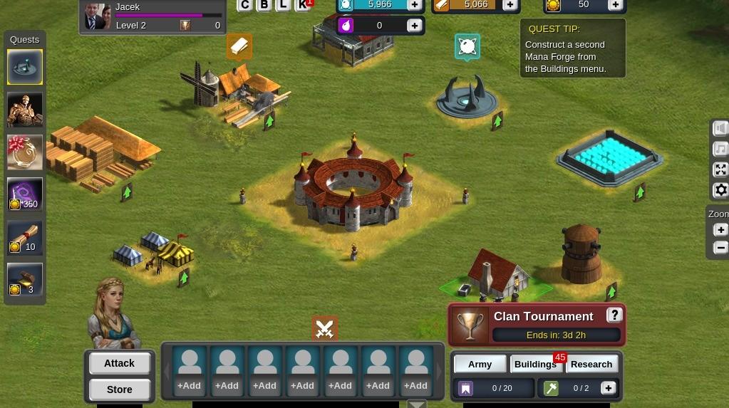 Widok wioski w grze