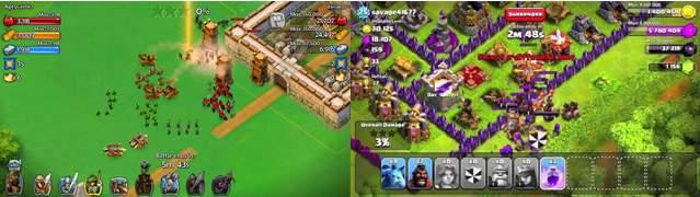 Widok ataku na wioskę