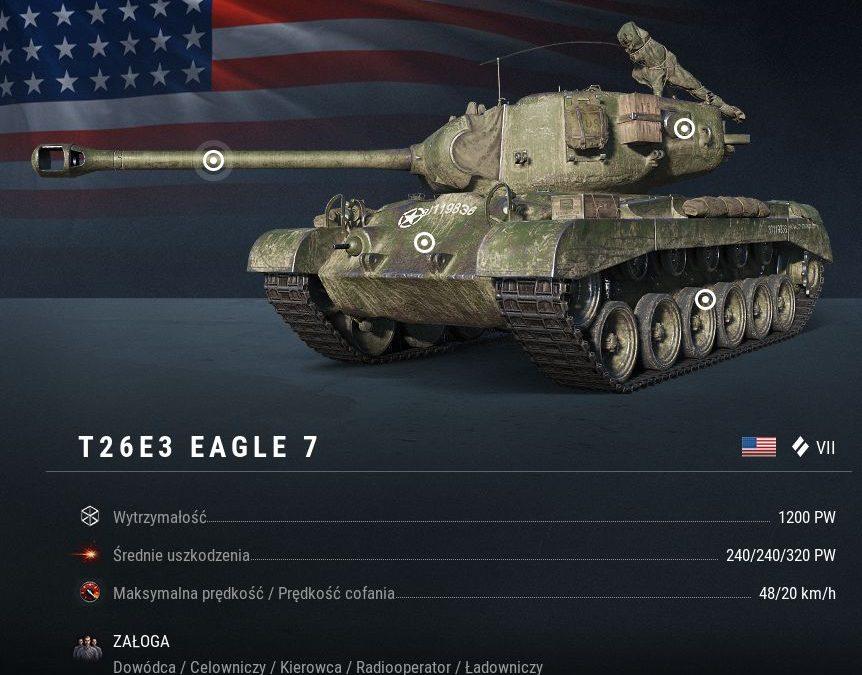 T26E3: Eagle 7, pogromca Pantery wjechał właśnie do świata World of Tanks