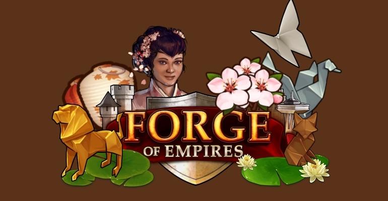 Wiosenne lampiony i Pagoda w wiosennym evencie Forge of Empires