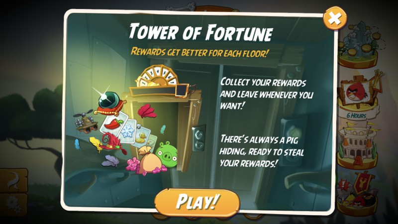 Angry Birds 2: Co to jest Tower of Fortune (dawniej zwana Windą)?