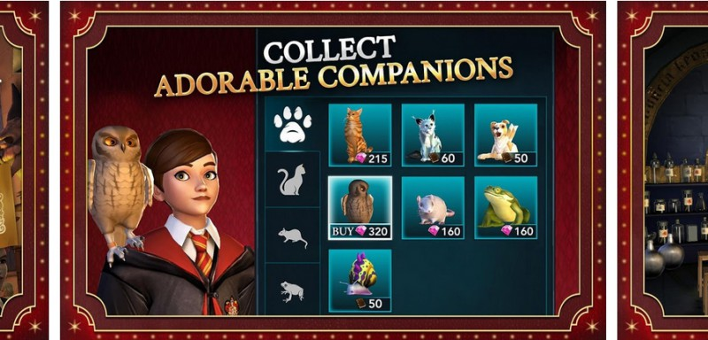 Jak zdobyć zwierzaki w Harry Potter: Hogwarts Mystery?