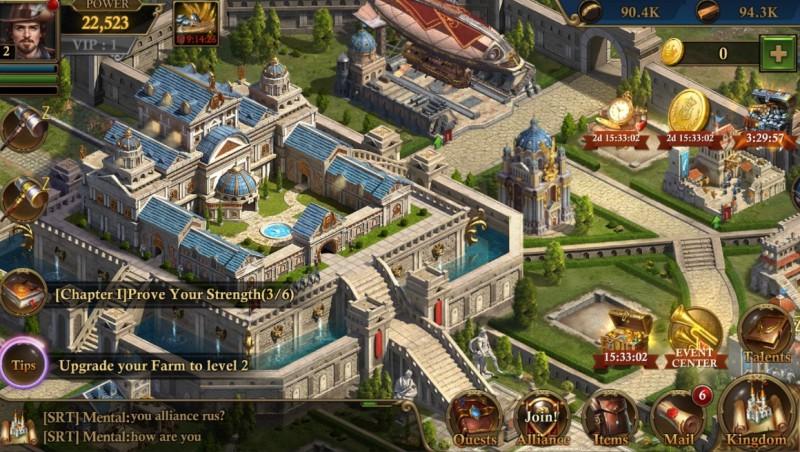 Guns of Glory: Rozbudowa zamku