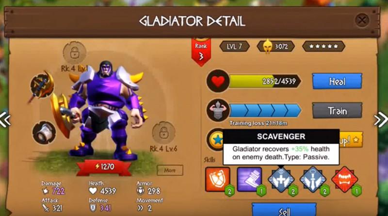 Gladiator Heroes Clash: Wykuwanie sprzętu w Kuźni
