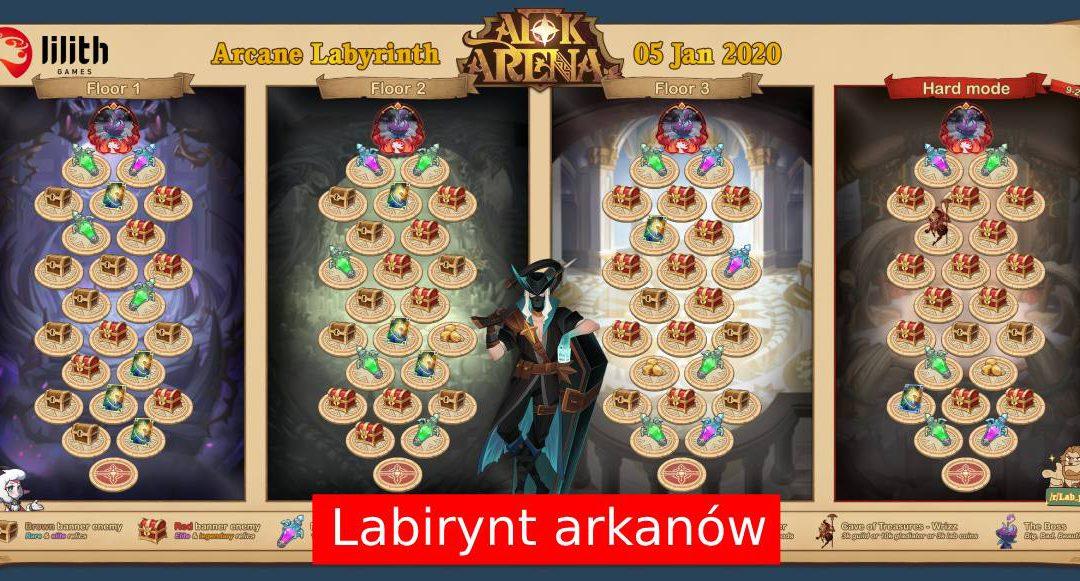 Strategie przechodzenia Labiryntu Arkanów w AFK Arena