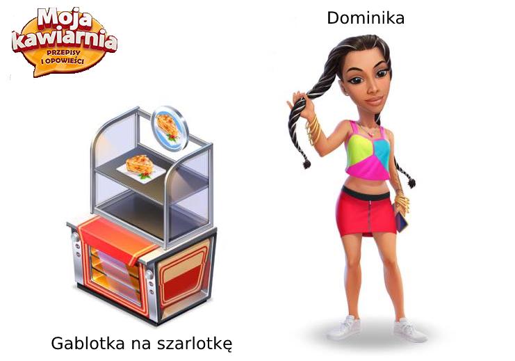 Gablotka na szarlotkę i Dominika w My Café: Recipes and Stories