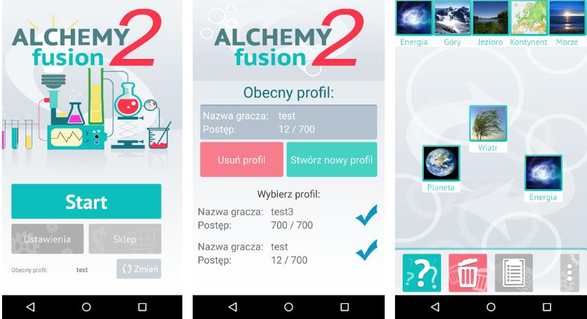 Alchemy Fusion 2: Lista kombinacji (750 elementów)