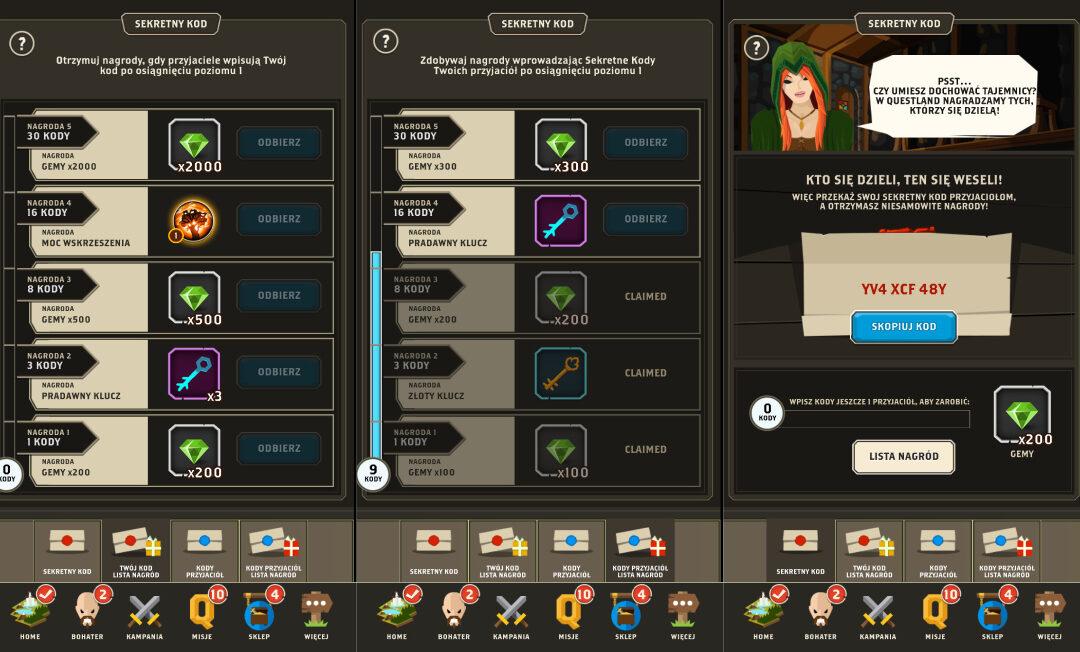 Lista sekretnych kodów do gry Questland: 50+ kodów